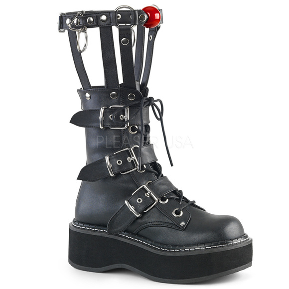 a57412580a Shoes | Gothic Cage Platform Buckle Strap Ankle Boots Calf | Poshmark